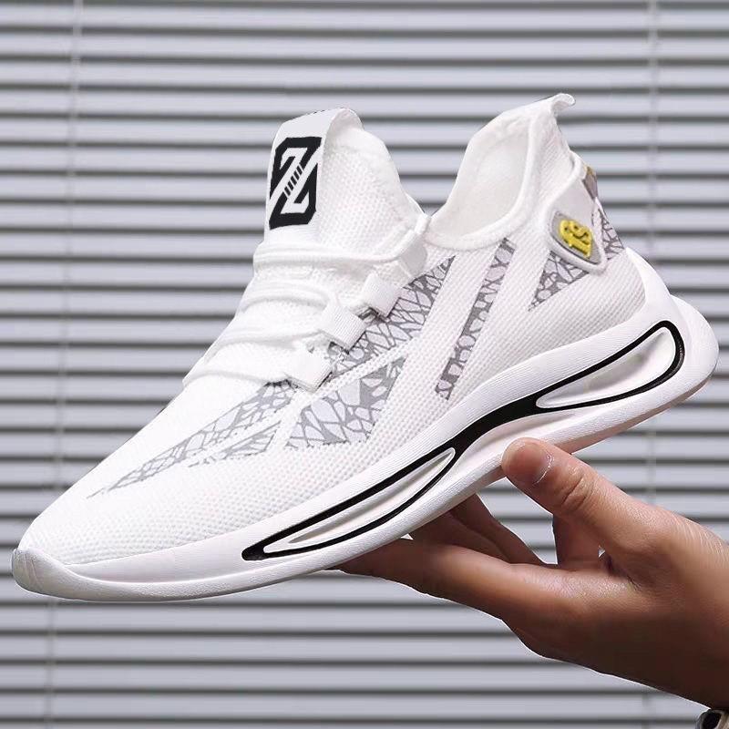 giày sneaker thể thao nam full trắng bền đẹp