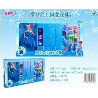 Bộ Đồ Chơi Búp Bê Tủ Áo Elsa