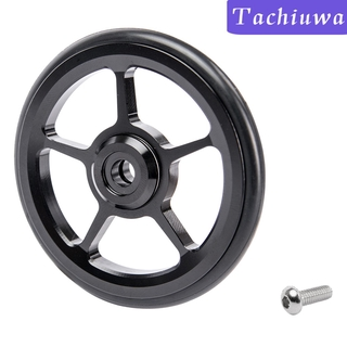 [TACHIUWA] Professional Folding Bicycle Wheel Brompton Easy Wheel Aluminum Alloy Bicycle Parts With M6 Bolts – 4 Colors
