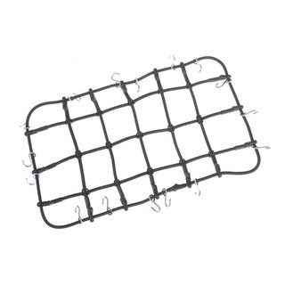 ☆VN 1/10 10*19cm RC Rock Crawler Accessory Luggage Roof Rack Net RED For RC Car