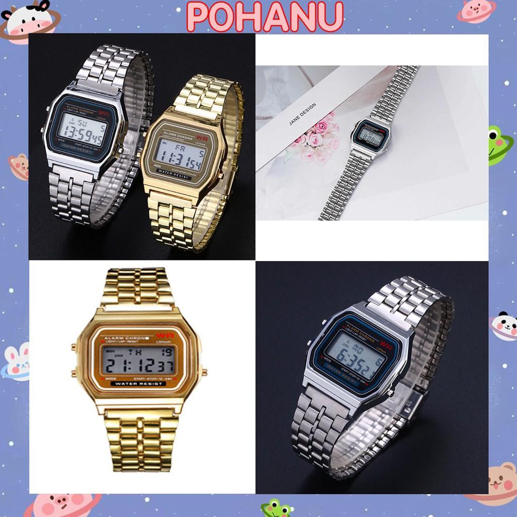 Đồng hồ Pohanu nam dây xích sang trọng thời trang thông minh  DH51