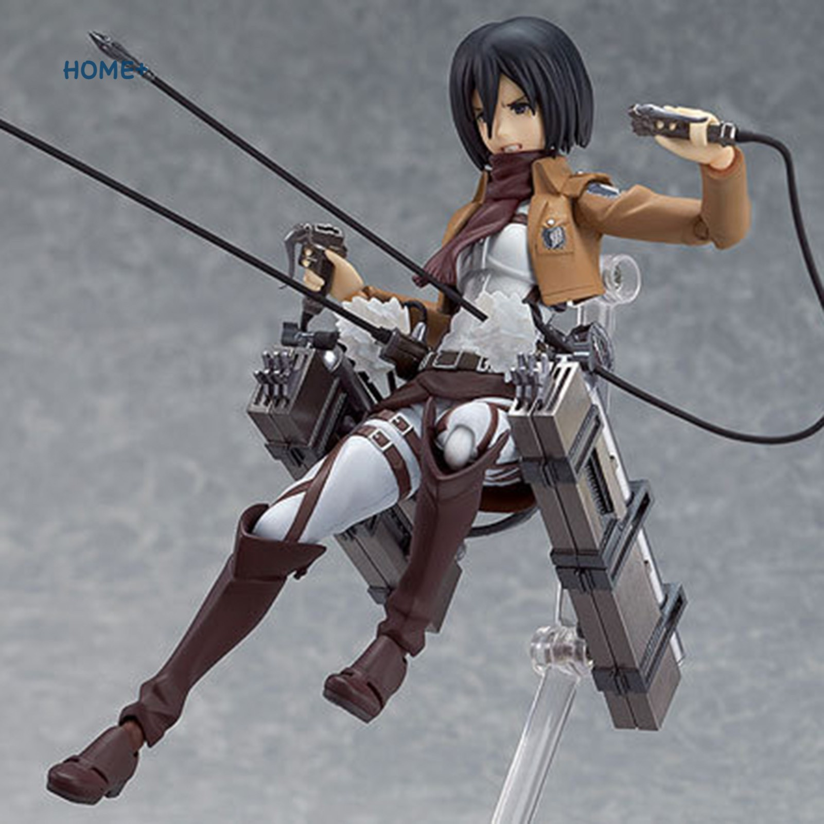 Tsuc Attack on Titan Mikasa Ackerman PVC Figure Changeable Face Anime Action Figure Model Toy @vn