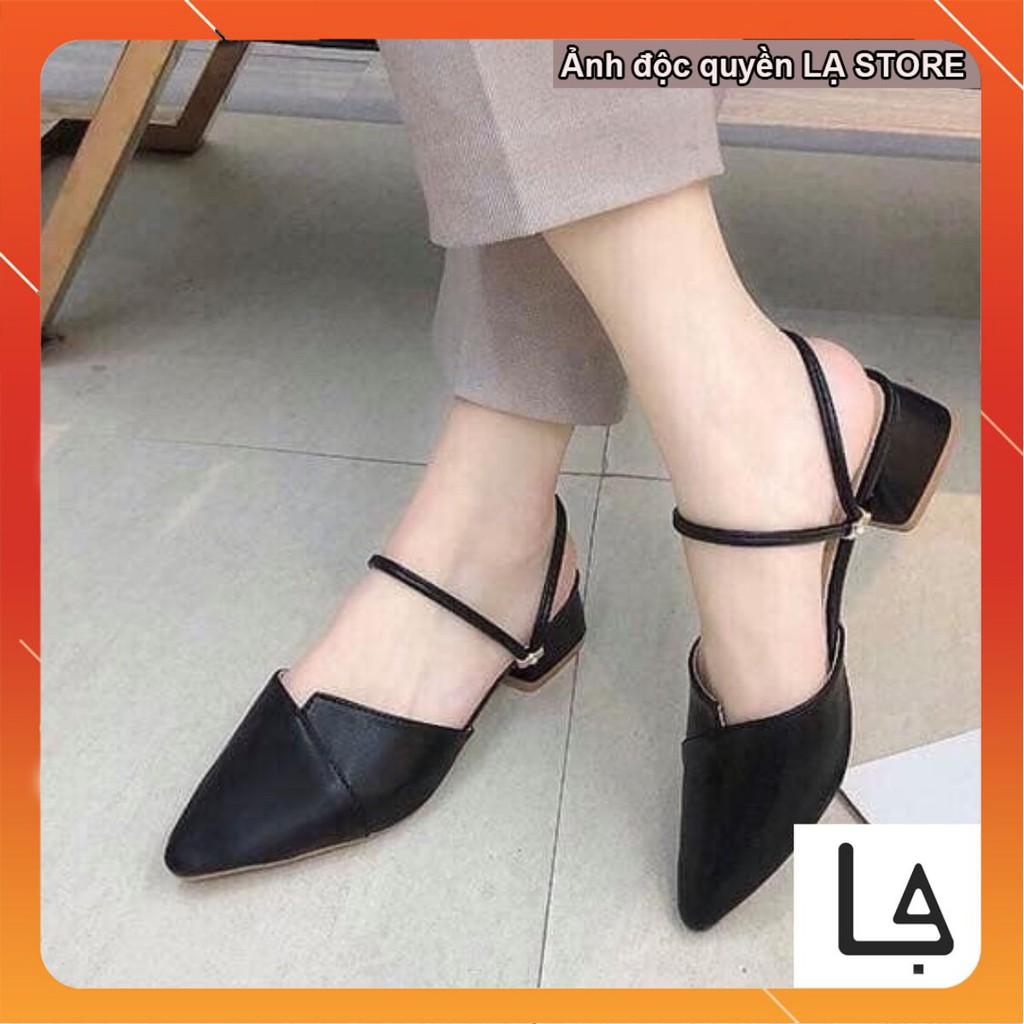 Giày nữ khuyết mũi nhọn quai hậu đeo 2 kiểu