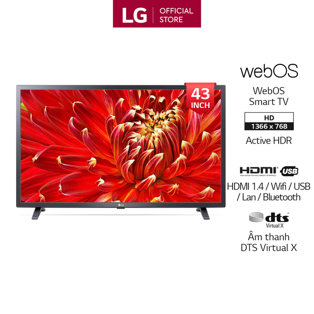 Smart Tivi LG 43 inch Full HD 43LM6300PTB - Model 2019 (Chính H