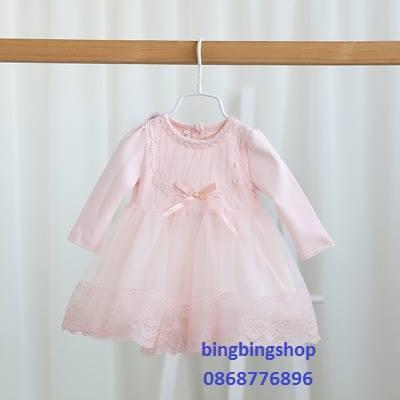 váy hồng bé gái