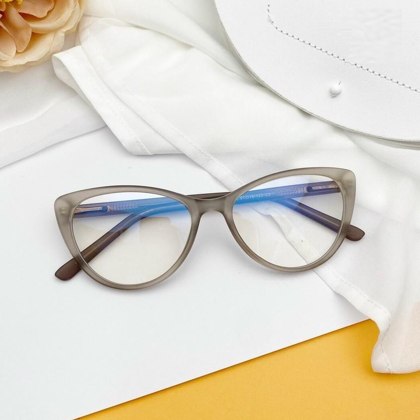 Gọng kính mắt mèo nữ Cao Cấp thời trang , chân cốt kim loại bền đẹp 8013
