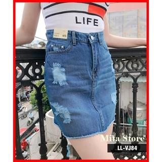 ⚡️[CHỈ MỘT NGÀY] Chân váy jean dáng chữ A trên gối