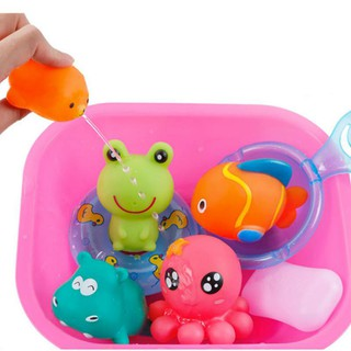 Bettertogether:Kids Water Spray Pool Tub Squirt Fun Bath Toys 7 Pcs/Set