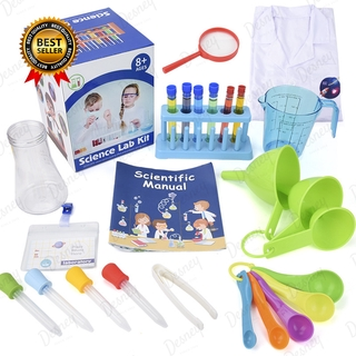 DIY Scientific Experiment Set With Lab Coat Scientist Role Play Toy Set For Children Boys Girls Kids Early Educational Toys
