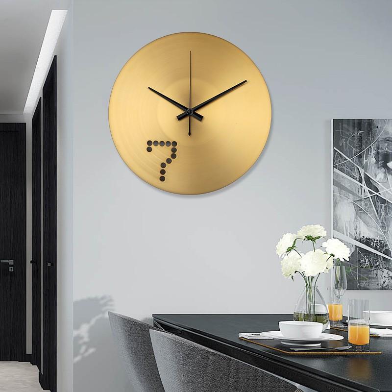 Đồng hồ treo tường cao cấp - PUDU 2008 - Thiết kế đồng nguyên khối độ