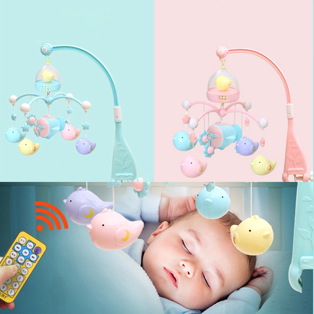 Baby Rattle 120 Songs Bracket Rotating Hanging Educational Musical Plastic Toy Newborn Crib Bed Bell Early Learning Gift