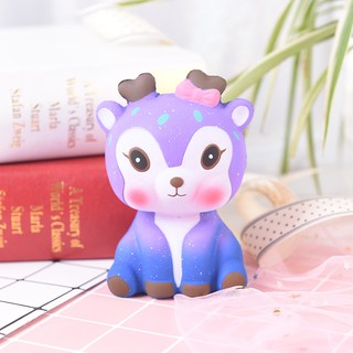 1pc stress relief toys galaxy cartoon deer scented slow rising cute animal toy