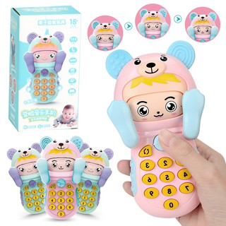 Baby Teether Toy Face Music Smartphone Baby Light Music Early Education Story Machine Toy