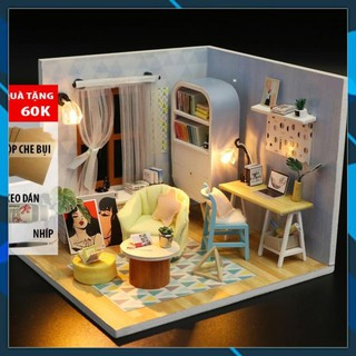 Mô hình nhà búp bê gỗ DIY Nhà búp bê Mô hình láp ghép DIY DING DONG NEST S903 Toy World thumbnail