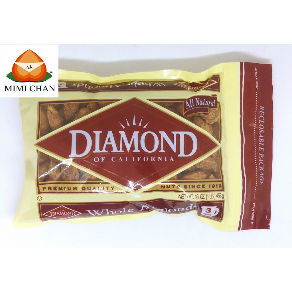 Hạnh Nhân Rang Bơ Diamond Mỹ 453g Hạnh Nhân Rang Bơ Diamond Mỹ 453g