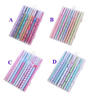 KIDSCLOTHING 10 pcs/set Cute Gel Pen Cartoon Student Stationery Pen Gift