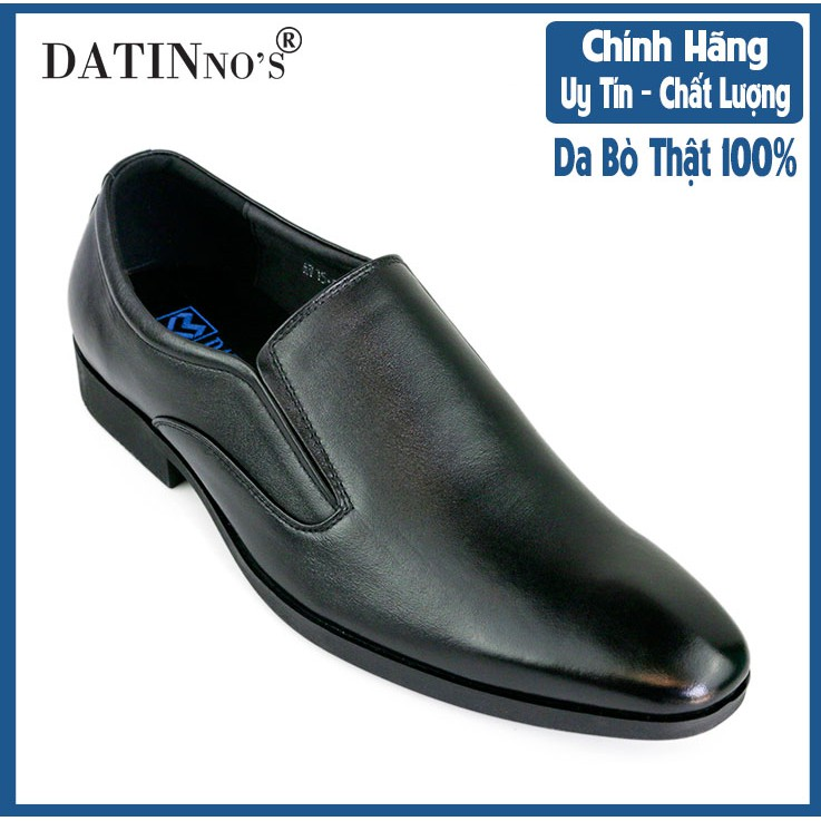 Giày Tây Nam Công Sở Da Bò DATINNOS (Đen) - AV5068