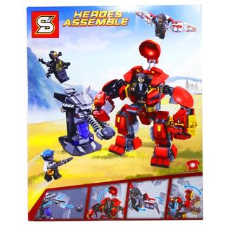 Bộ Lego Xếp Hình Ninjago Người Sắt Robot Iron Man. Gồm Có 420 Chi Tiết. Lego Ninjago Lắp Ráp Đồ Chơi Cho Bé.