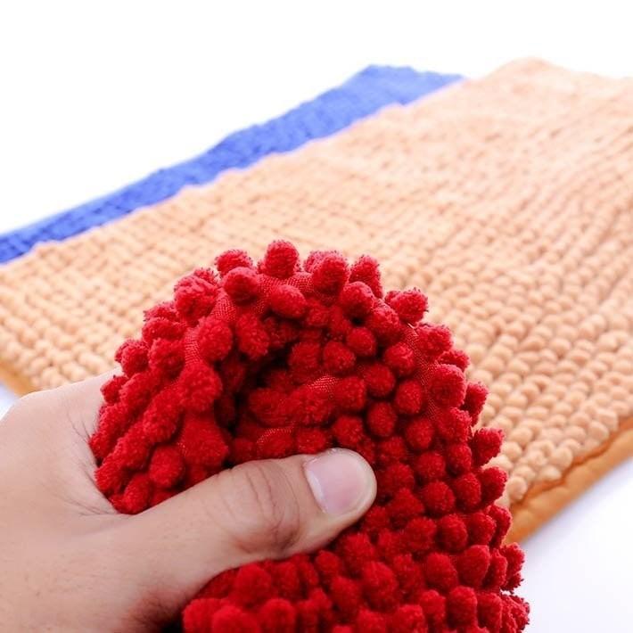 Thảm chùi chân san hô siêu thấm hút, kích thước 35cm x 50cm / Thảm đinh lau chân chống trươt trượt