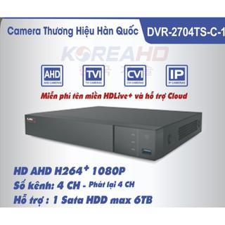 [Mã 159ELSALE hoàn 7% đơn 300K] ĐẦU GHI HÌNH KOREAHD 4CH HD AHD H264+ 1080P DVR-2704TS-C-1 thumbnail