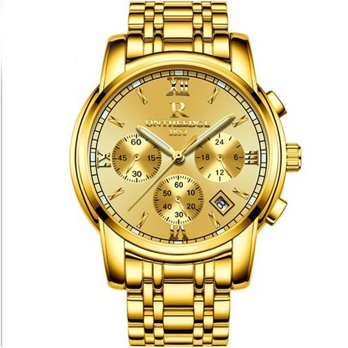 Đồng hồ nam dây thép đặc 6 kim cao cấp Ontheedge
