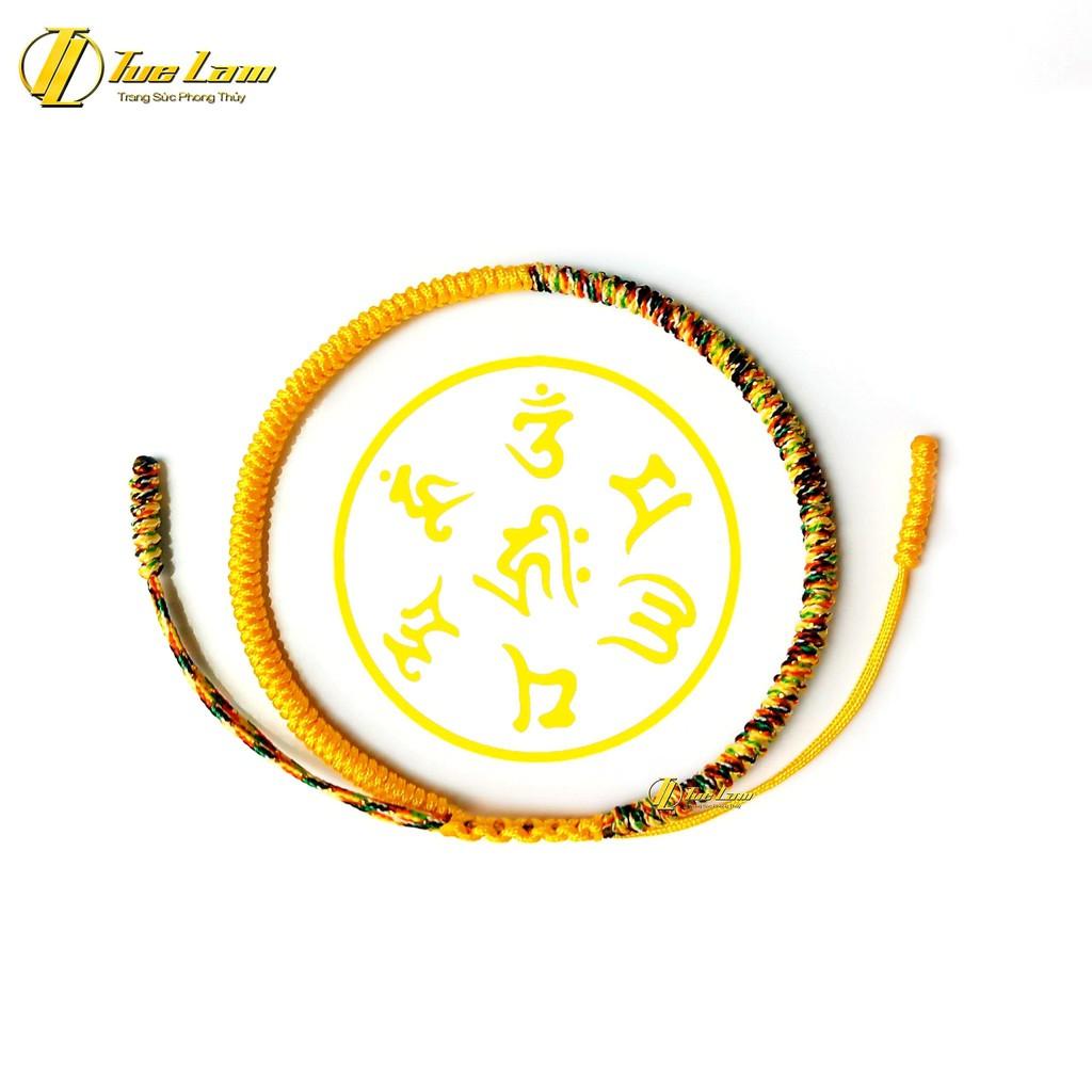Vòng Tay Nữ Chỉ Handmade Tibet Màu Vàng Cao Cấp Đan Đối Xứng Hợp Mệnh - DIY Tuệ Lâm