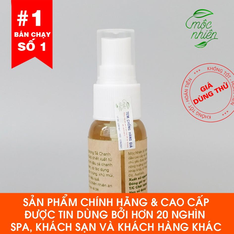 Tinh dầu xịt phòng Mộc Nhiên chính hãng 30ml (quà tặng đặc biệt duy nhất hôm nay) tinh dầu sả chanh, bạc hà, hoa hồng