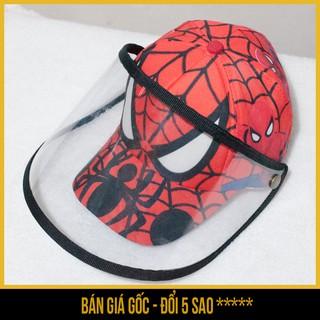 Mũ nón lưỡi trai có kính trong suốt chống dịch, chống khói bụi cho trẻ em 3D người nhện (màu ngẫu nhiên) - Săn Nón Đẹp thumbnail