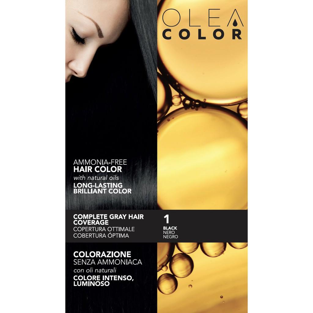 [PHỦ BẠC] Kem nhuộm dưỡng tóc không Amoniac Olea Color ITALY (màu 1-3-4)