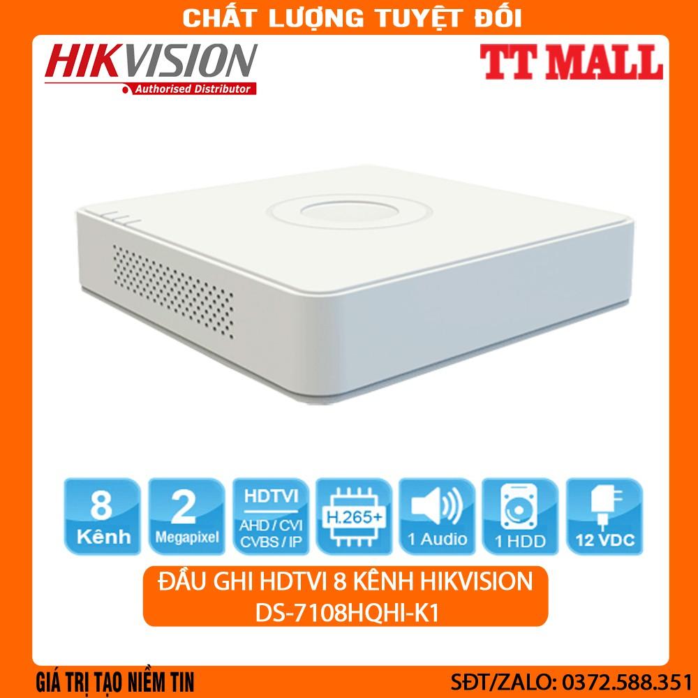 ĐẦU GHI HDTVI 8 KÊNH HIKVISION DS-7108HQHI-K1 (TURBO HD 4.0) .