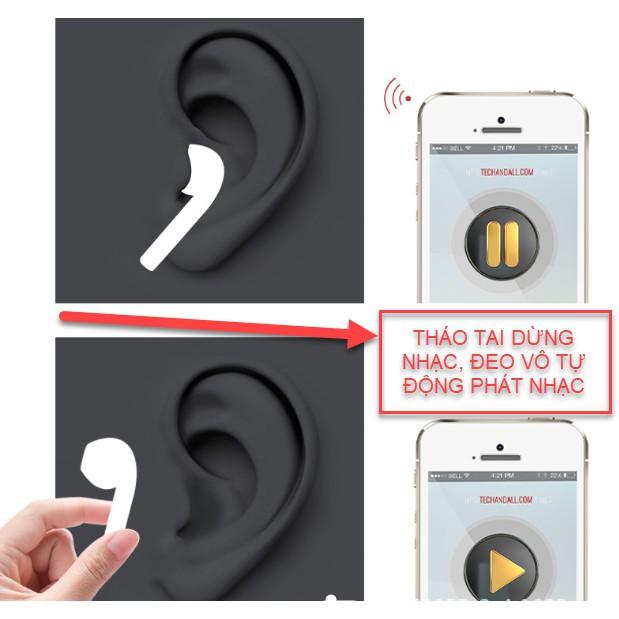 [Mã 267ELSALE hoàn 7% đơn 300K] Tai nghe Bluetooth i5000 PRO TWS có thể ĐỔI TÊN + ĐỊNH VỊ + CẢM BIẾN tháo tai dừng nhạc