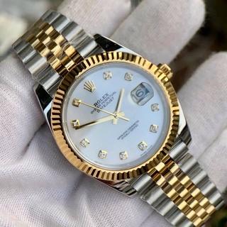 Đồng hồ Nam Rolex máy nhật vỏ vàng mặt khảm trai số đá dòng cơ Automatic size 38mm-41mm thumbnail