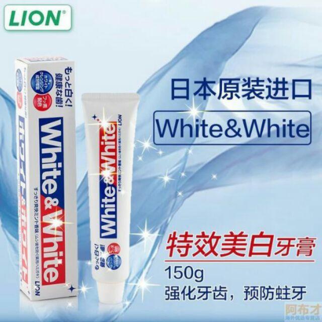 KEM ĐÁNH RĂNG WHITE&WHITE NHẬT BẢN 150g