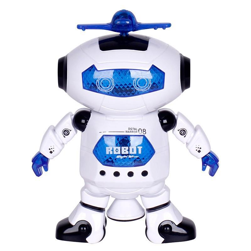 Robot thông minh nhảy múa xoay 360 độ (có đèn, nhạc)