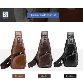 Túi đeo chéo nam chính hãng tặng cáp sạc + dây usb_tuanthanh