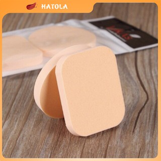 Set 2 bông mút tròn vuông tán phấn tán kem siêu mịn mút trang điểm Hatola thumbnail