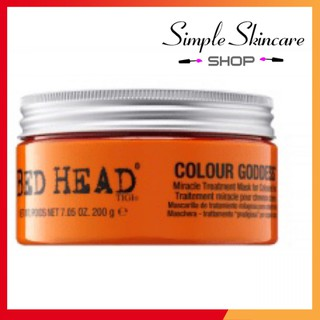 [Cam kết Auth] Mặt Nạ Dưỡng Bóng Tóc Nhuộm Tigi BED HEAD COLOUR COMBAT Colour Goddess Miracle Treatment Mask 200ml