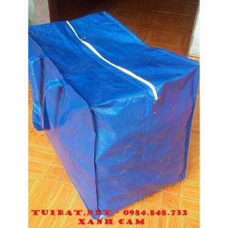 Túi bạt xanh dày, đáy lớn 50x60x40 đựng quần áo chăn màn
