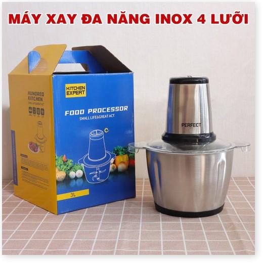 Máy Xay Thịt Cối Inox 304, Máy Xay thịt bằng điện không rỉ, dung tích lớn, công suất lớn, nhiều chế độ xay, chống vỡ bền