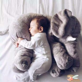 ♥AN☻-37cm Cute Cartoon Elephant Plush Pillow Fluffy Sleeping Hold Cushion Birthday Gift For Children