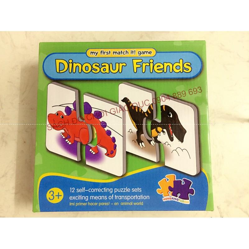 Bộ ghép hình 2 mảnh chủ đề khủng long - My first puzzle matcht it - Dinosaur Friends
