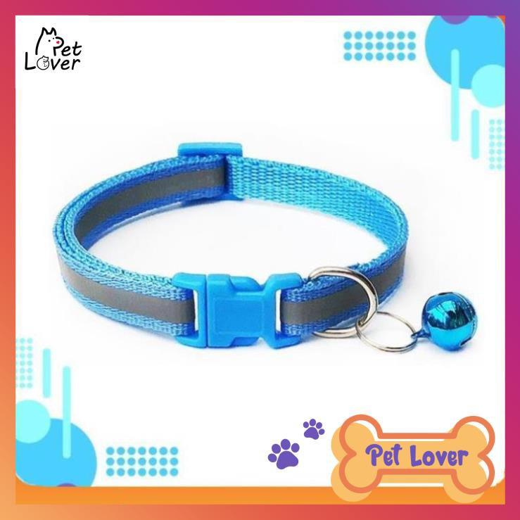 [Dưới 8kg] Vòng Cổ Cho Chó Mèo Phản Quang, Vòng cổ cho mèo, Vòng Kèm Chuông, màu sắc dễ thương ⚡ FREESHIP ⚡-