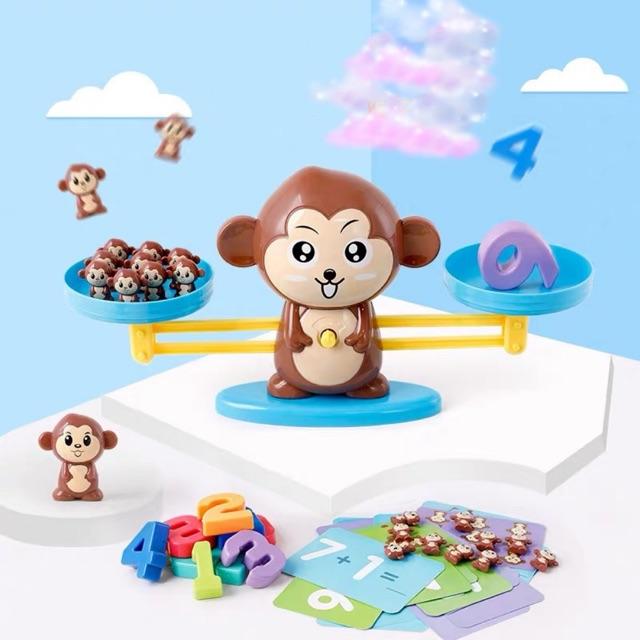 [Mã TOY0D giảm 15K đơn bất kỳ] Bộ khỉ học toán cân bằng thông minh Monkey Balance cho bé ( ảnh&clip thật )