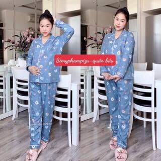 Đồ Bộ Bầu, Bộ Sau Sinh Pijama Mềm Đẹp Mới Nhất BPJM930, Hàng Chuẩn- Ảnh trải sàn và video chụp thực tế