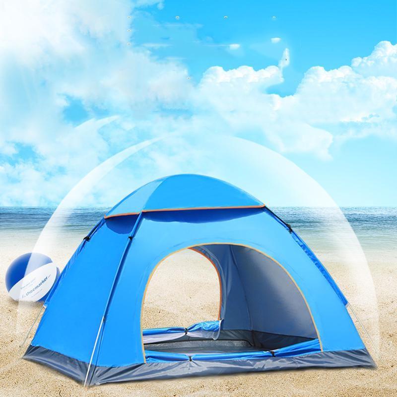 Lều dã ngoại tự bung 4-6 người chống nước chống tia tử ngoại 2m*2m - Lều Chống Nước Gấp Gọn Dễ Dàng Tiện Lợi