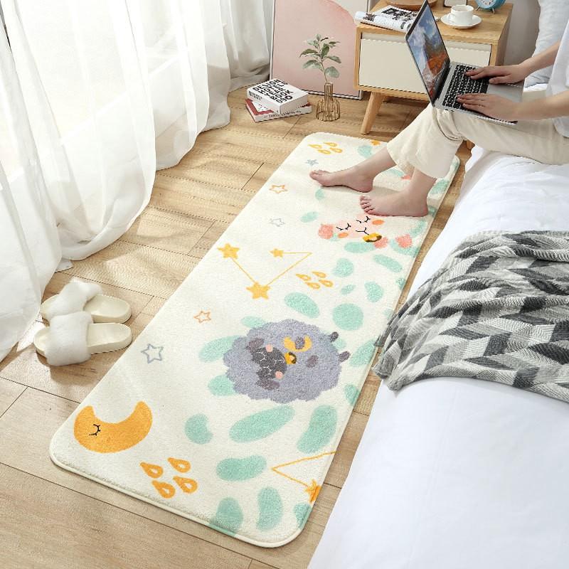 Thảm Lông Cừu Hoạt Hình Siêu Mềm Trang Trí Giường Ngủ Chân Ghế Sofa