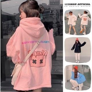 Áo khoác hoodie Chống Rét 123SHOP Cho Nữ Cho Cặp Đôi in hình BANAWA Chất Nỉ Unisex Form rộng Có 4 Màu Ulzzang