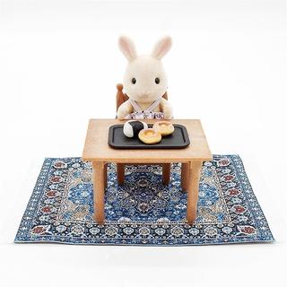Thảm dệt mini tỷ lệ 1/12 dùng trang trí nhà búp bê R7Y3