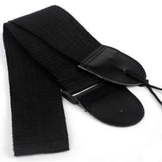 Cotton Guitar Strap Wide Adjustment Range and Secure Leather Holes Accessories