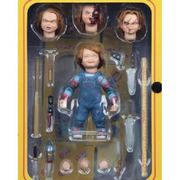 JQAIQ NECA Chucky Good Guy Doll Child's Play Ultimate 4″ Action Figure 1:12 Scale NIB